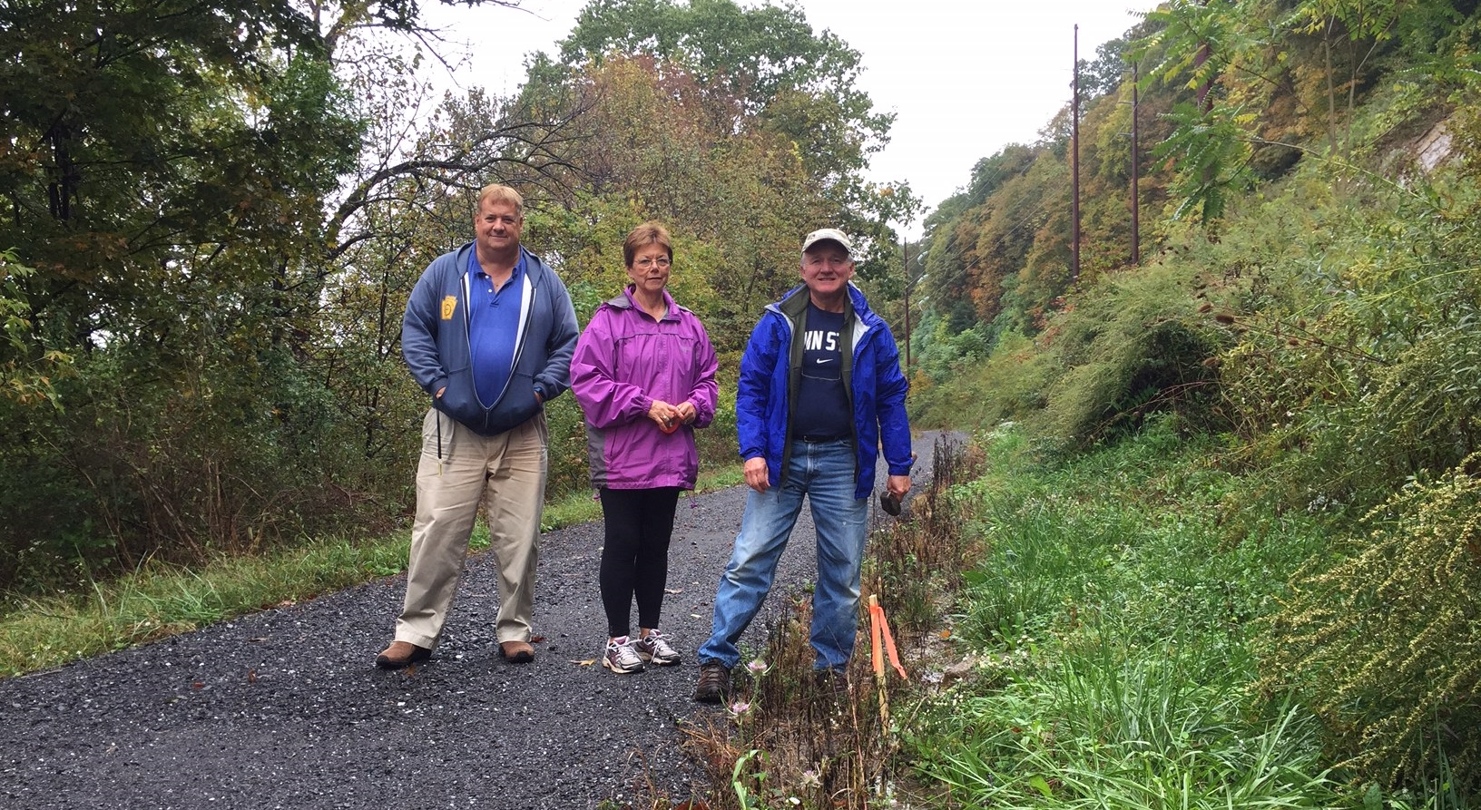 Bald Eagle Valley trail survey crew