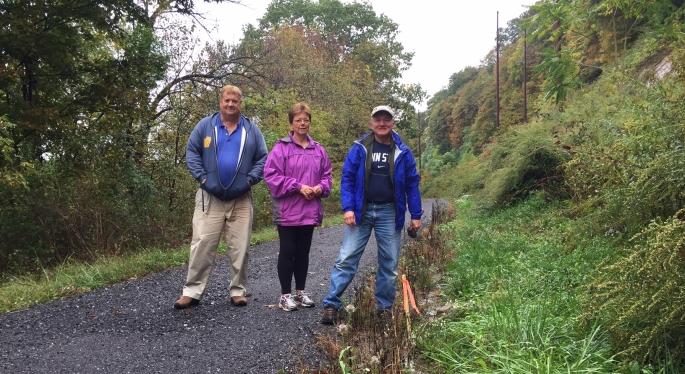 Bald Eagle Valley trail survey crew